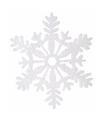 Kerstversiering sneeuwvlok slinger glitter type 3
