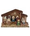 Kerststal versiering met 10 figuren