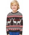 Foute print kinder truien Happy Reindeers
