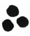 Knutsel materiaal zwarte pompons 25 mm