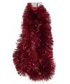 Kerstboom Tinsel rood 270 x 15 cm