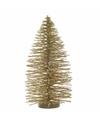 Mini kerstboom glitter goud 35 cm