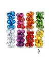 Plastic Kerstballen goud 12 stuks 3 cm