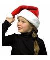 Pluche kerstmuts rood wit voor kinderen