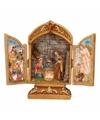 Religieuze drieluik met heilige familie 18 cm