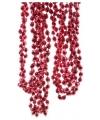 Roze kralenslinger 270 cm