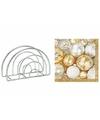 Servettenhouder met kerst servetten kerstballen