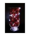 Sfeerverlichting rode kerstballen in vaas