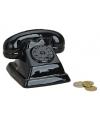 Spaarpot zwarte telefoon