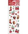 Stickervel kerst huisdieren