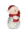 Theelichthouder sneeuwpop 15 cm type 2