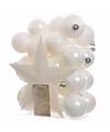Witte kerstboomversiering set elegant christmas 33 delig