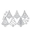 Kerstkaarten stickers zilveren kerstbomen
