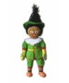 Zwarte piet pop groen 60 cm