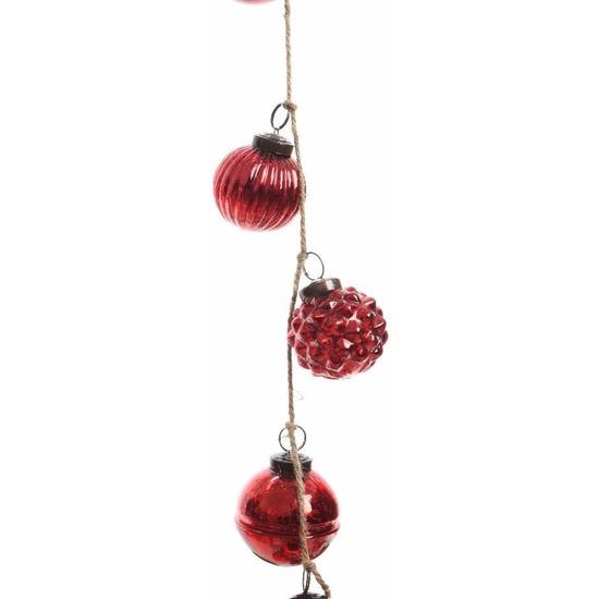 Kerstboom Decoratie Rode Kerstballen Slinger 120 Cm Van Glas Bij