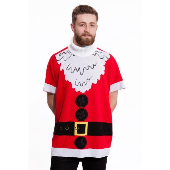 Foute Heren Kersttrui.Foute Heren Poncho Kerstman Bij Kerst Artikelen Nl